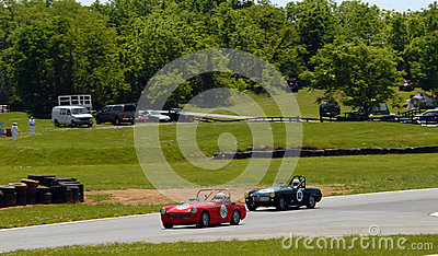 Vintage MG sports car racing Editorial Stock Photo