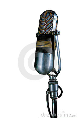 Vintage Mic Editorial Stock Photo