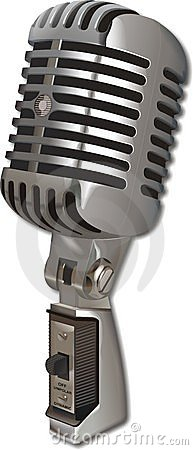 Vintage Microphone Editorial Stock Photo