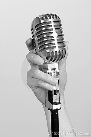 Free Vintage Microphone Royalty Free Stock Photography - 5887647