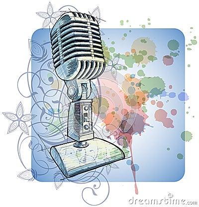 Vintage Microphone sketch