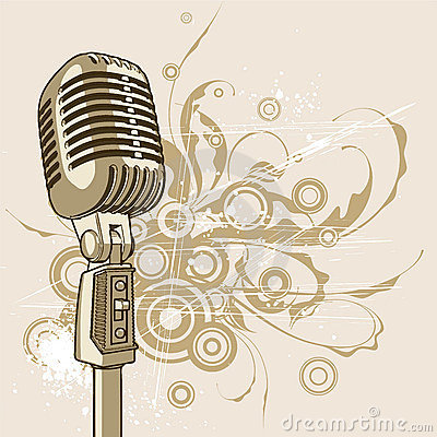 Free Vintage Microphone - Vector Royalty Free Stock Image - 2403236