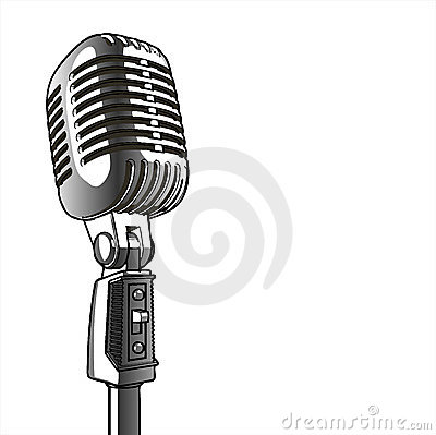 Free Vintage Microphone - Vector Royalty Free Stock Image - 2547396