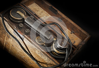 Vintage military telephone