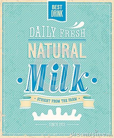 Vintage Milk card.