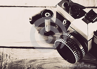 Vintage 35 mm film photo camera