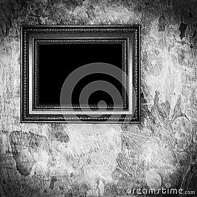 Vintage monochrome frame on grunge