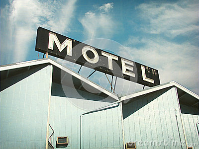 Vintage motel and sign
