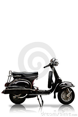 Vintage motobike on white background