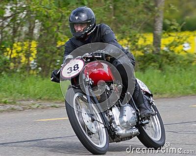 Vintage motorbike Gilera Editorial Stock Image
