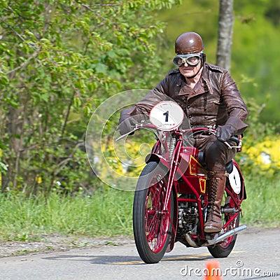 Vintage motorbike Moto Guzzi C4V Editorial Photography