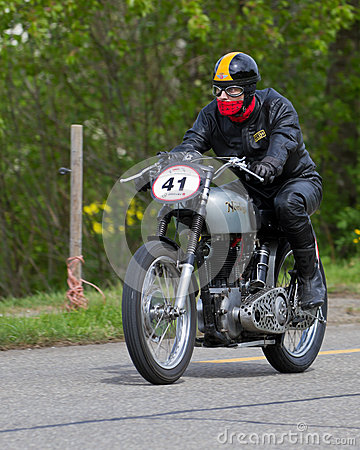 Vintage motorbike Norton ES2 from Editorial Stock Image