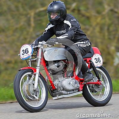 Vintage motorbike Norton Manx M40 Editorial Photo