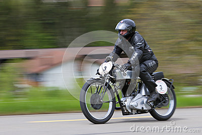 Vintage motorbike NSU Bullus from 1930 Editorial Stock Image