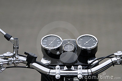 Royalty Free Stock Image: Vintage motorcycle instruments
