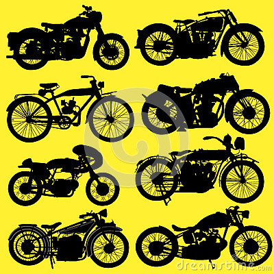 Vintage Motorcycle motorbike vector