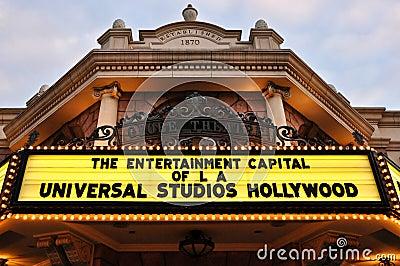 Vintage movie theatre at Universal Studios Editorial Stock Photo
