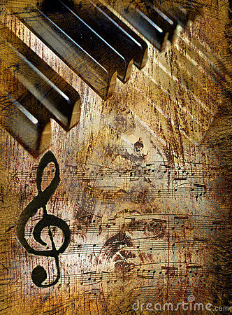 Free Vintage Music Background Royalty Free Stock Photography - 17282547