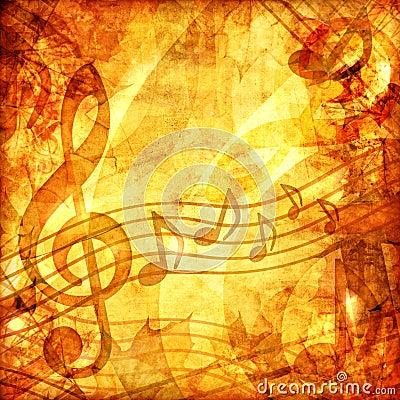 Vintage musical score