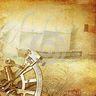 Vintage nautical background