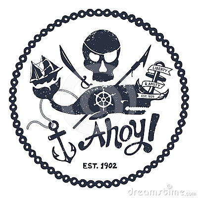 Free Vintage Nautical Illustration Stock Photography - 24592802
