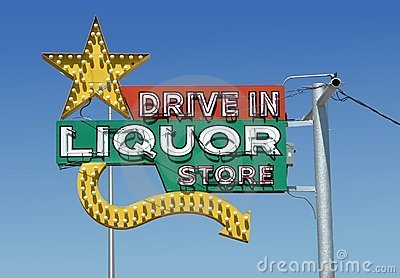Vintage neon liquor