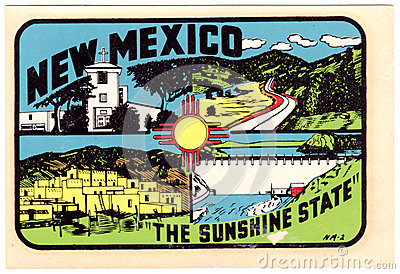 Vintage New Mexico Travel Sticker Editorial Image