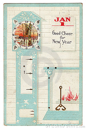 Vintage New Year s Greeting Postcard