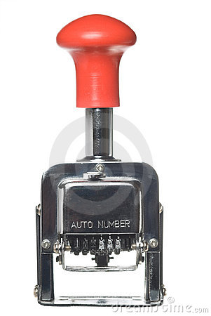 Free Vintage Numbering Machine Royalty Free Stock Photo - 7969975