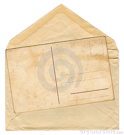 Vintage old envelope