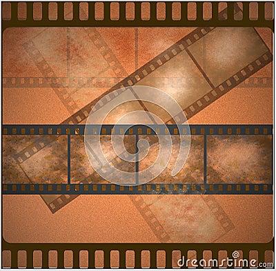 Vintage old film art background