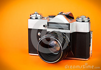 Vintage old film photo-camera