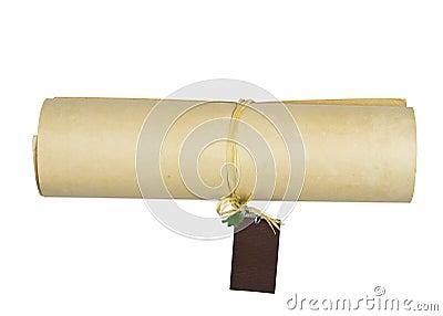 Vintage old paper roll
