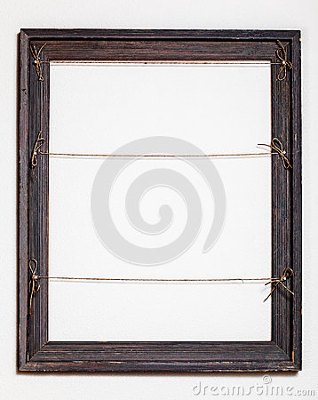 Free Vintage Old Picture Frame On White Background Royalty Free Stock Photo - 28083415