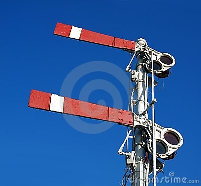 Vintage Old Train Warning Signal