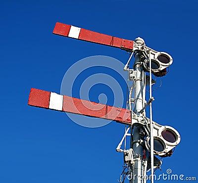 Vintage Old Train Warning Signal