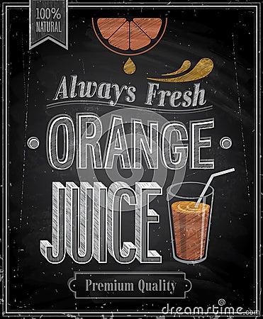 Free Vintage Orange Juice - Chalkboard. Stock Photography - 33692912