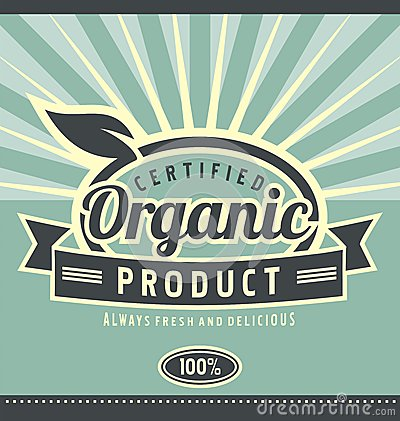 Vintage organic product poster design
