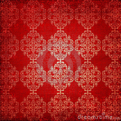 Free Vintage Ornament Red Background Stock Photography - 20277502