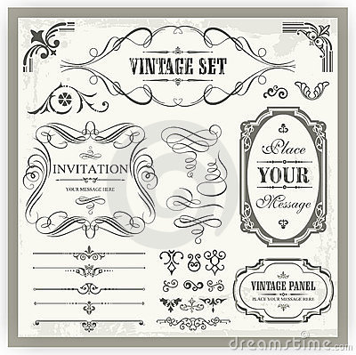 Vintage Ornamental Calligraphic Designs