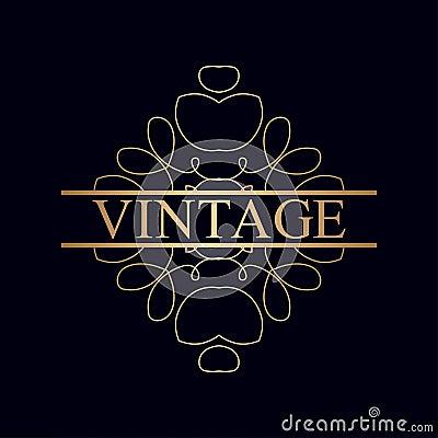Vintage ornamental logo Vector Illustration
