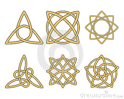 Vintage ornaments. Celtic knots