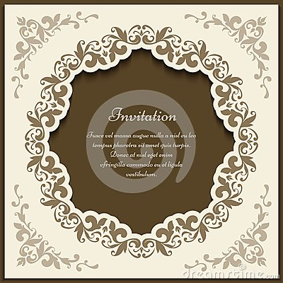 Free Vintage Ornate Frame, Cutout Card Template Royalty Free Stock Image - 105180816