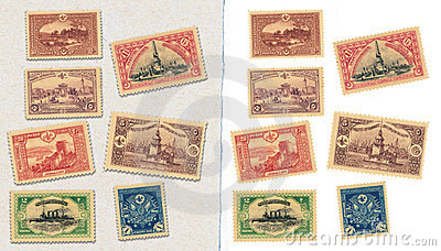 Vintage ottoman stamps