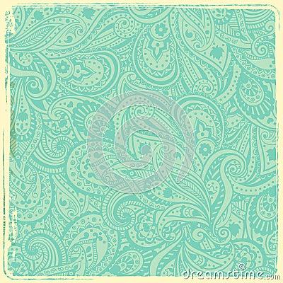 Vintage paisley background