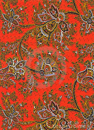 Vintage paisley fabric detail