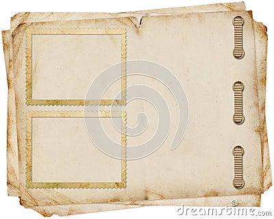 Vintage paper with  frames