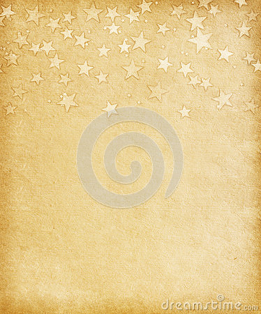 Vintage paper  with  grunge stars