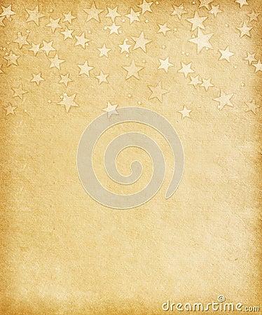Vintage paper  with  grunge stars