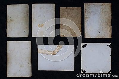 Vintage paper notes